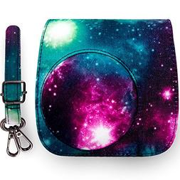 Elvam Classic Printed Compact Case with Strap Compatible w F