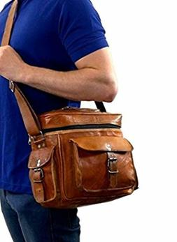 Genuine Leather DSLR SLR Vintage Camera Shoulder Messenger B