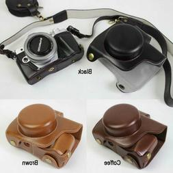 High Quality Leather Camera case Bag Grip strap For Olympus