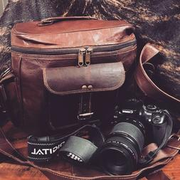 Hipster Leather camera bag vintage distressed SAMPLE bag NEW