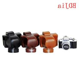 Hot sale! NEW <font><b>Camera</b></font> Leather case cover