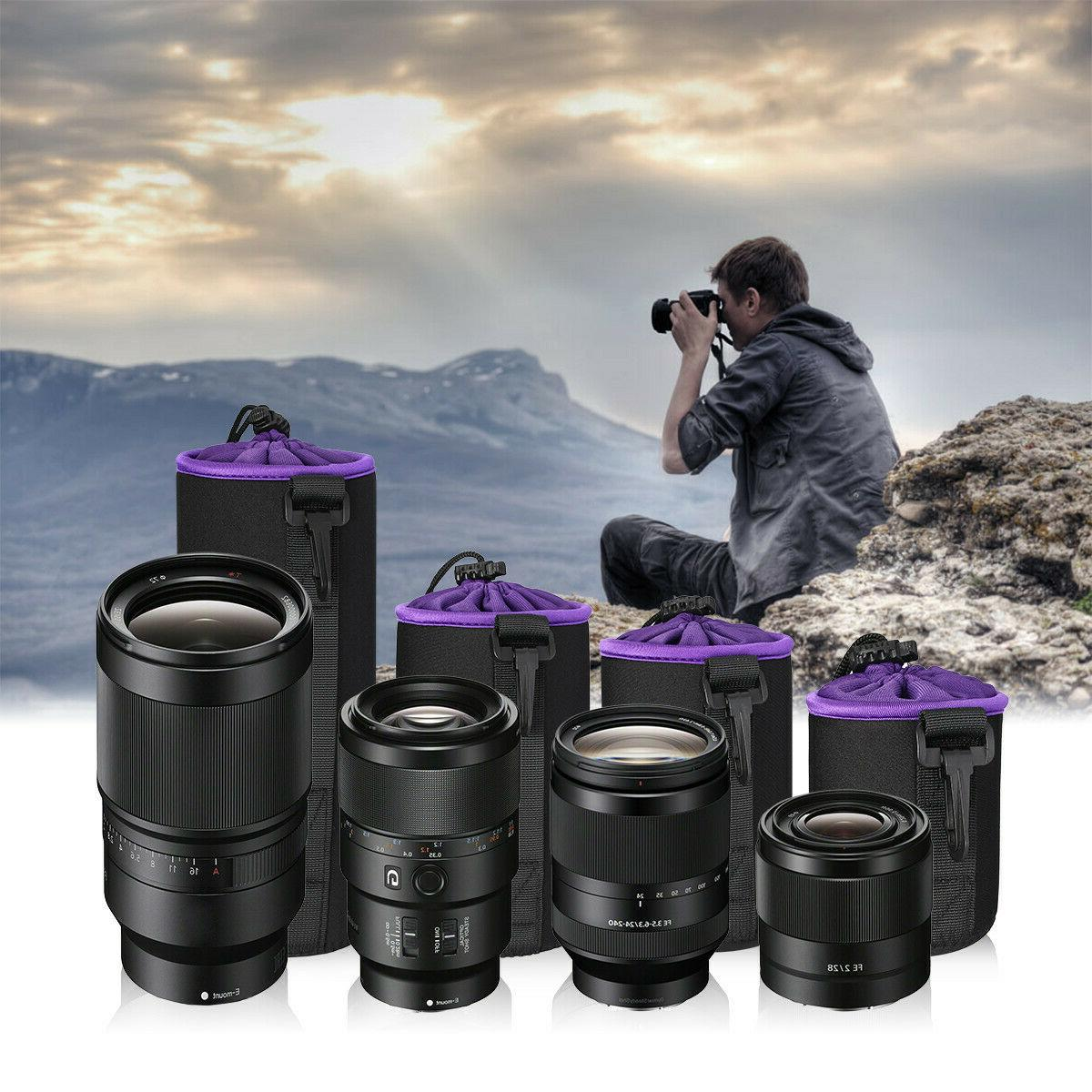 4 Camera Lens Bag Protector Nikon Sony DSLR