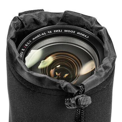 Neewer 4 Sizes Drawstring Lens Pouch Bag Cover size XL DSLR Camera