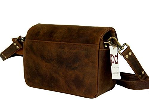 Basic Gear: Leather Bag Rustic Look Camera.