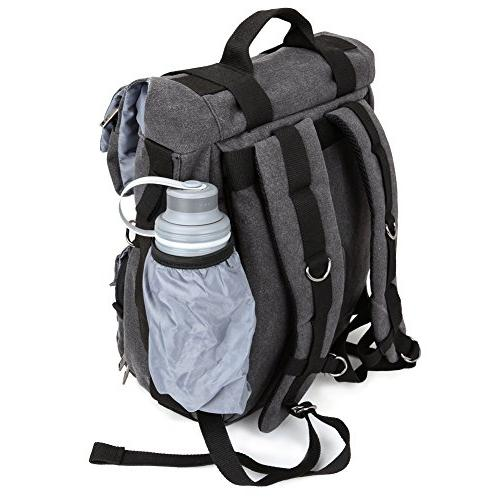 Camera Backpack, Evecase DSLR Camera Travel with Laptop/Tablet Compartment interchangeable Lens, 4/3 Micro Mirrorless, Film