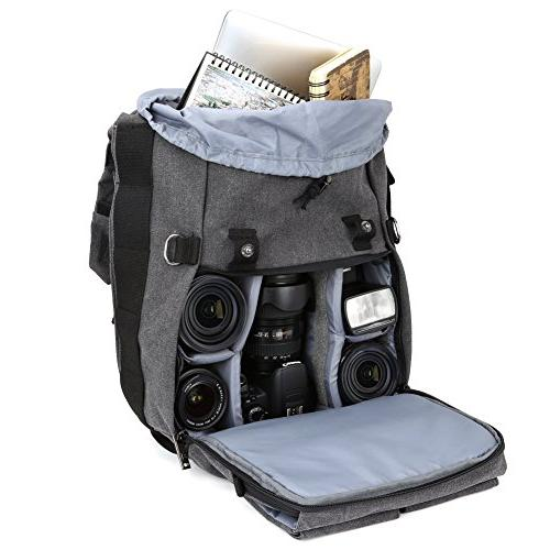 Camera DSLR Camera Backpack with 14 Compartment interchangeable Full 4/3 Micro Mirrorless, Film Camera
