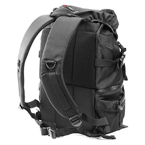 Outdoor Resistant Daypack Tablet and Padded Nikon Other Camera Lens, Tripod, Accessories Black