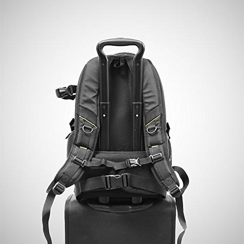 Evecase Camera Backpack, Waterproof Camera Tripod and Cover Case Canon Nikon Lens Photography