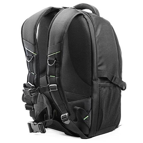 Evecase DSLR Bag Backpack, Travel Waterproof Tripod Holder and Cover Case for Canon Lens and Photography Accessories