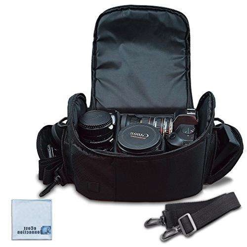 Large Digital Video Padded Carrying / for Sony, Panasonic, Samsung, and Cameras eCostConnection Microfiber Cloth