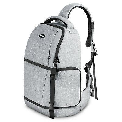Neewer Grey Sling Camera Bag - Camera Case Backpack for Niko