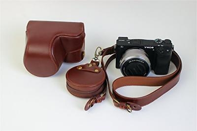 A6000 A6300 Case, BolinUS Handmade Genuine Real Leather Full