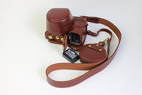 A6000 BolinUS Handmade Real FullBody Cover for Sony A6300 16-50mm Opening Version Strap + Mini Bag