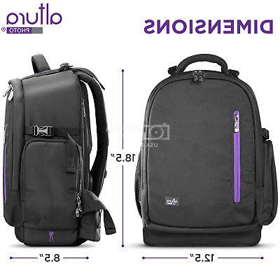 Large Camera Backpack with Waterproof Canon Photo