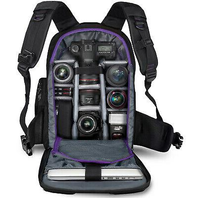 Large Camera Backpack with Cover Canon Nikon Photo