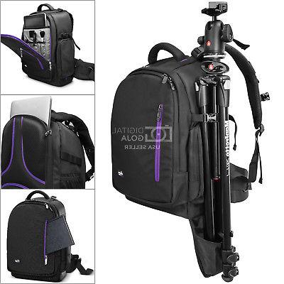Large Backpack Bag with Waterproof Canon Nikon Photo®