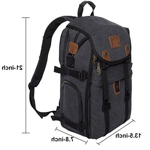 DSLR Camera Canvas Bag with Laptop