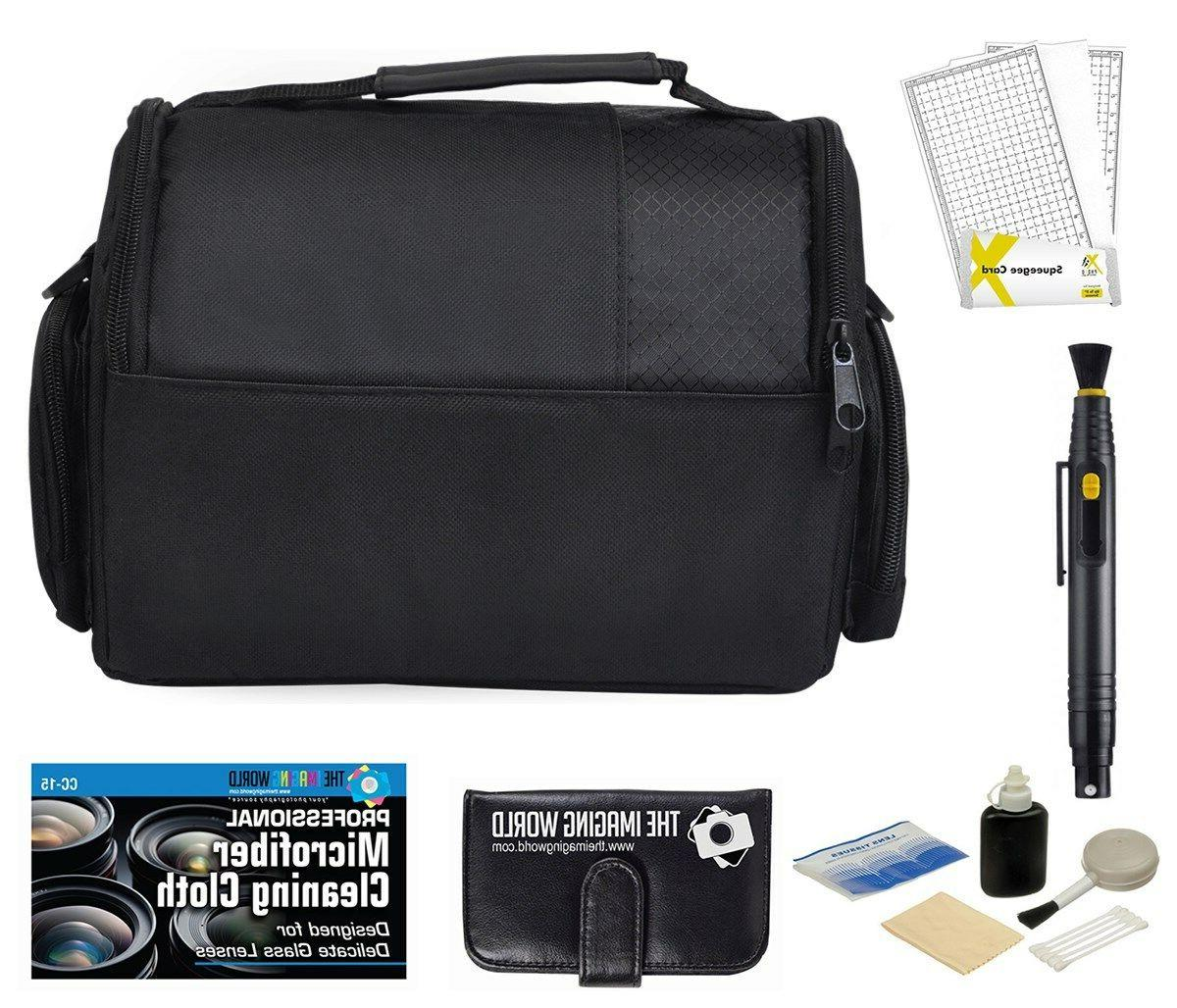 Camera Bag Case + Accessories Bundle for DSLR, Mirrorless, C
