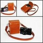 brown / tan leather camera case bag pouch for Sony HX90V HX9