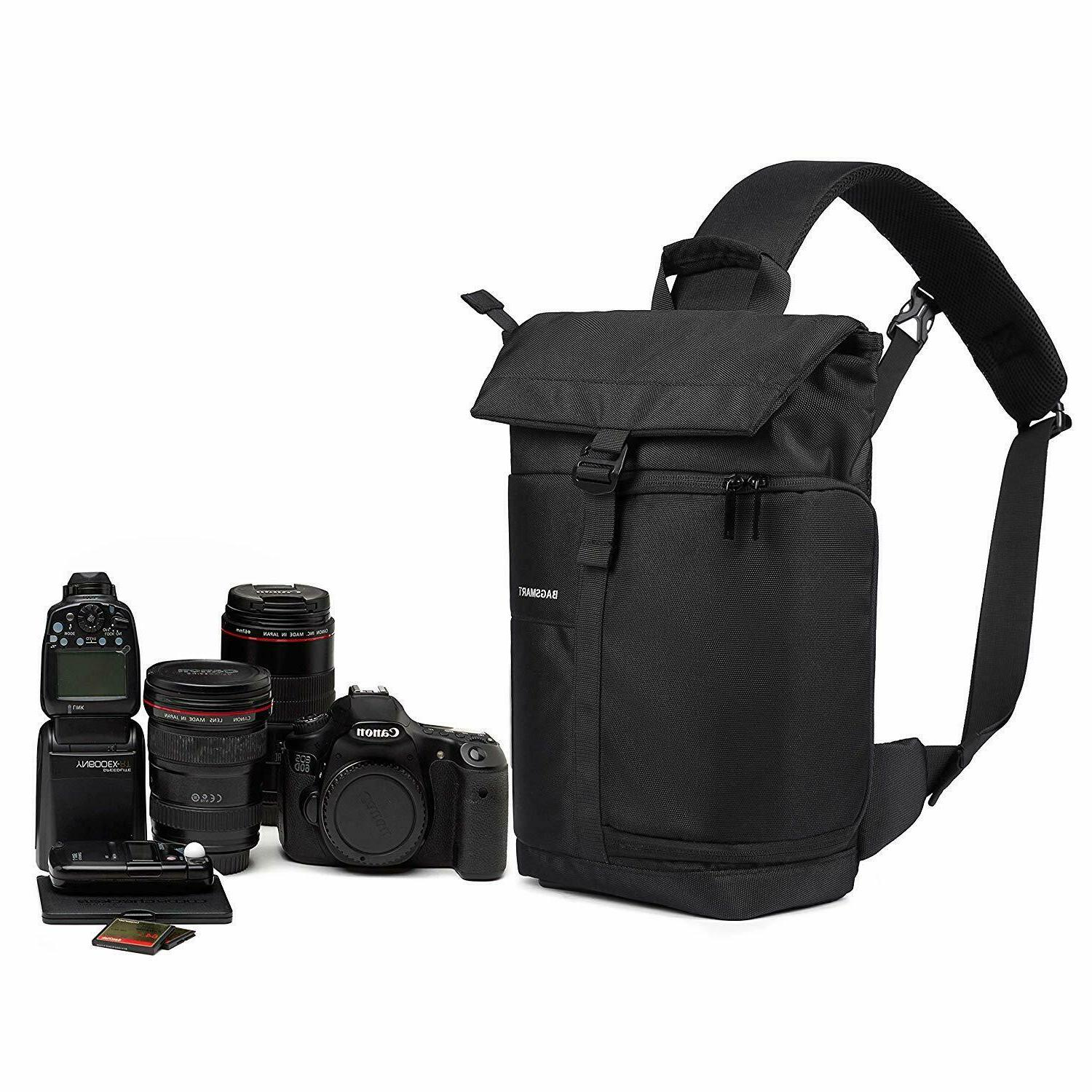 BAGSMART Camera Bag,DSLR Camera Bag Sling Bag 1 Camera,1 Lens,1DJI Pro