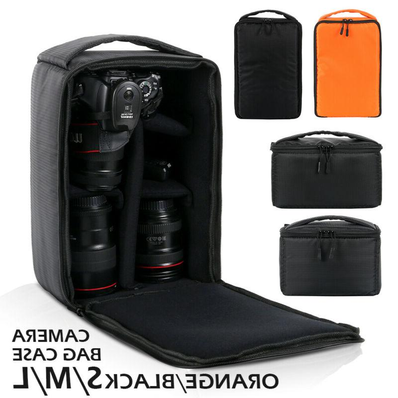 Large Camera Bag Insert Carry Case Partition For DSLR SLR Ca
