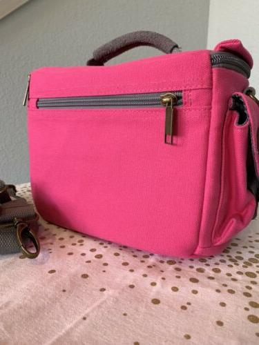 15% Drop • Evecase Bag Case Pink Canvas NWT