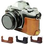 Camera Case Bag Grip Strap For Olympus OM-D E-M10 PU Leather
