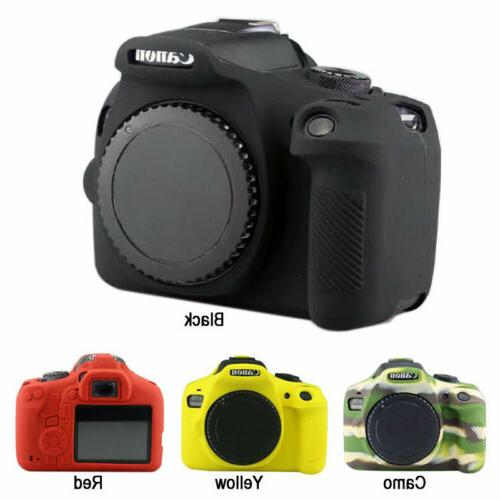 Camera Soft Silicone Rubber Skin Case for Canon Eos Rebel T6