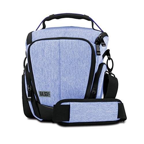 Adjustable Carry Strap for Nikon D3300 // D3400 // D5500 Grey USA Gear Camera Case for Digital SLR Zippered Accessory Pockets with Soft Cushioned Interior Canon Rebel T6 // T6i // T5 // T5i /& More