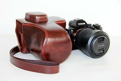 Coffee camera leather case bag  for Sony alpha a7 II or a7R