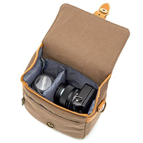 Compact Camera Bag Small Shoulder 4/3 Four System/Mirrorless/Power Zoom/Instant Digital Camera-