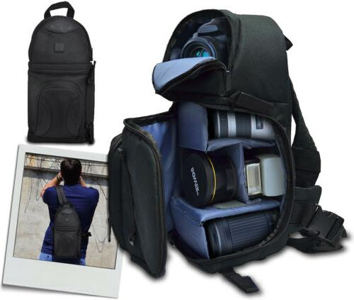 Large Deluxe Cameras/Camcorder Backpack Bag for Nikon D3200