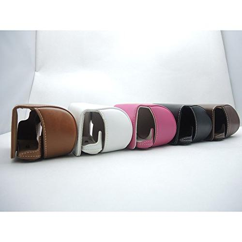 Dengpin Leather Digital Camera Bag Alpha A6000 Strap, Style, No Need to Take Machine It Be Directly, Colors Case, White,