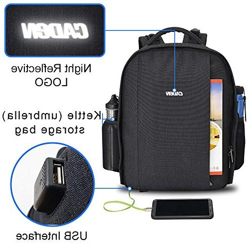 DSLR Bag USB Charging Cover Photography Laptop Backpack Case Compatible Canon Nikon Accessories