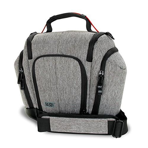 DSLR Camera Bag with Bottom, Soft Cushioned Side Lens by Great for , EOS 80D , Cyber-Shot III &