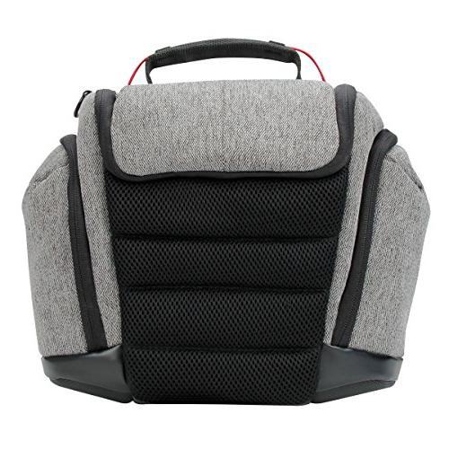 DSLR Bag with Weather Soft Cushioned Interior and Side Lens Storage by Gear- Works Great for Nikon , EOS , Sony III
