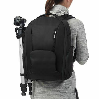 AmazonBasics DSLR Camera and Laptop Backpack Bag 19 x 9 x 14 Inches,