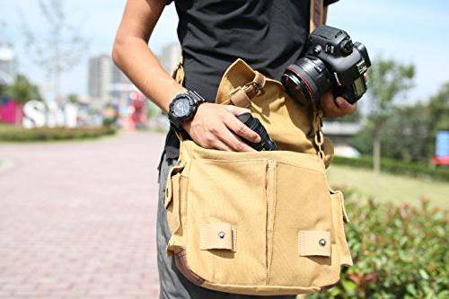 ESDDI DSLR with for Daily Use Insert, Khaki Brown