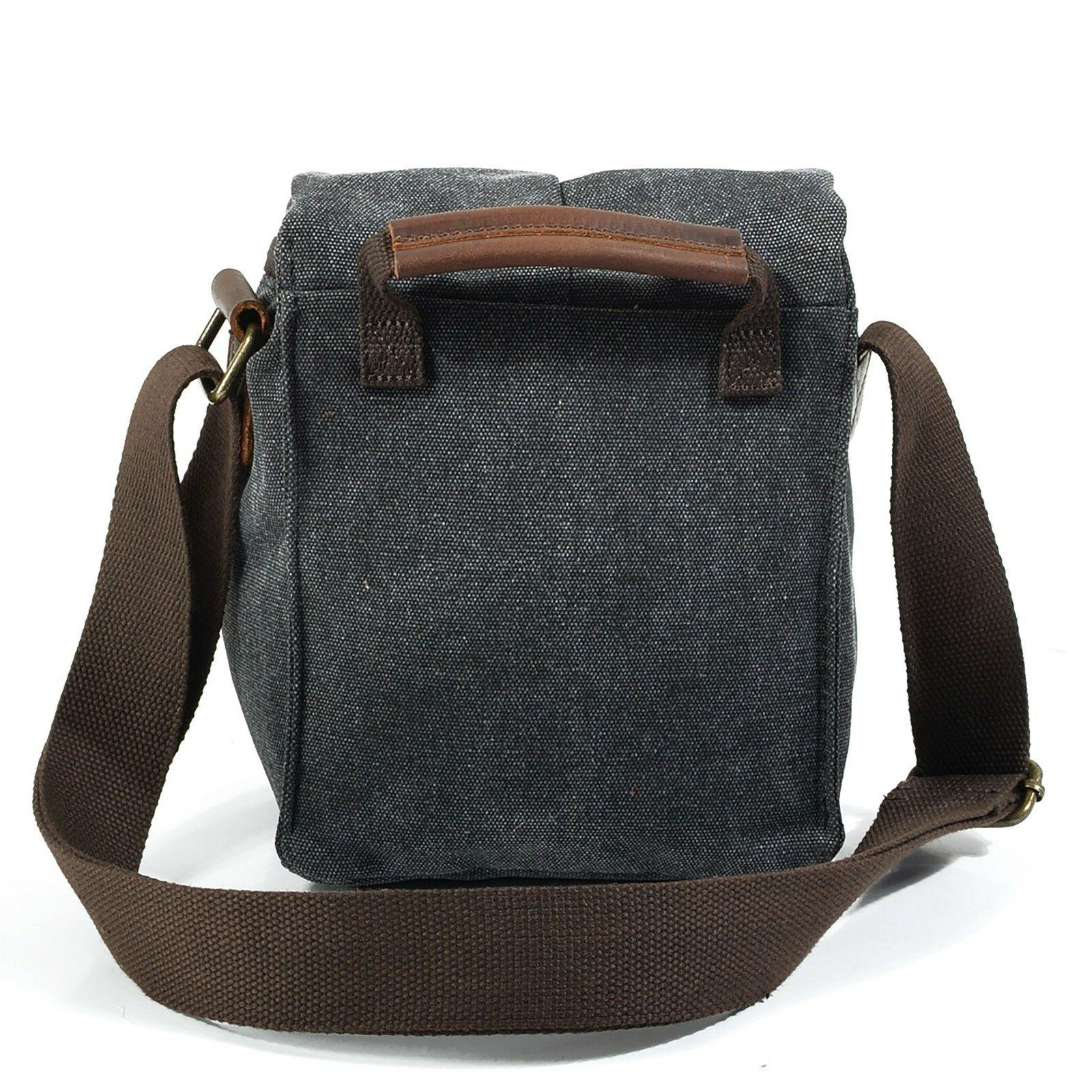 DSLR Canvas Camera Bag Shoulder Messenger Padded