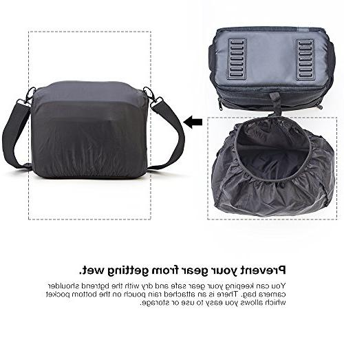 BGTREND DSLR Bag Case With Waterproof Rain Cover for Nikon, Samsung