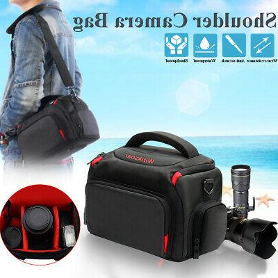 DSLR SLR Camera Waterproof Shoulder Bag Carrying Case For Ca