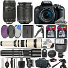 Canon EOS Rebel T7i SLR Camera 800D + 18-55mm + 70-300mm + E