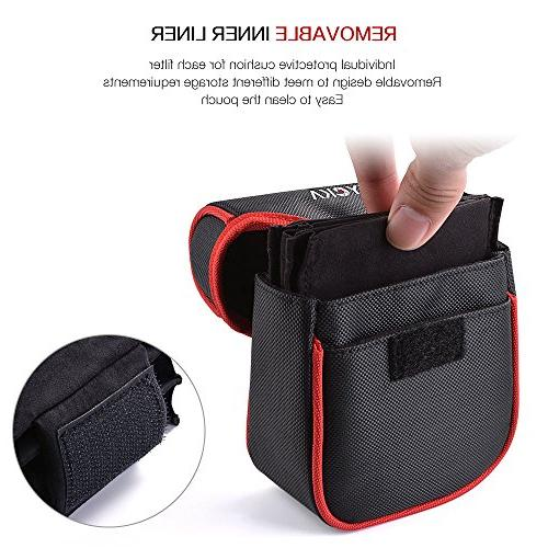 Tycka for Round to 86mm, Belt Design Filter Pouch, Inner and Dustproof Design,