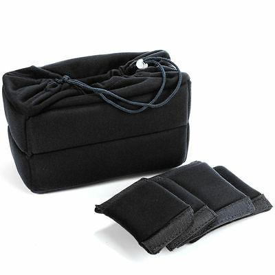 Flexible Camera Insert Bag Partition Padded Case for Nikon D