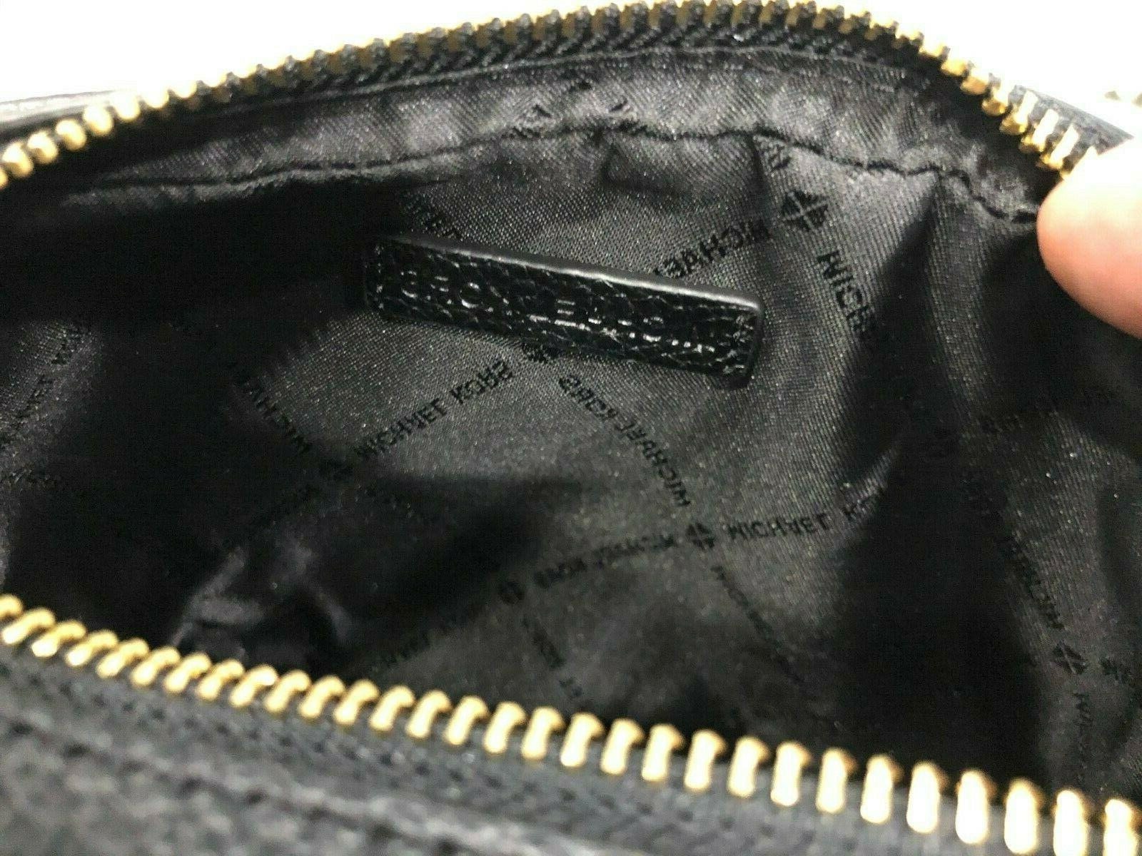 Michael Double Zip Bag Pebbled Leather Gold