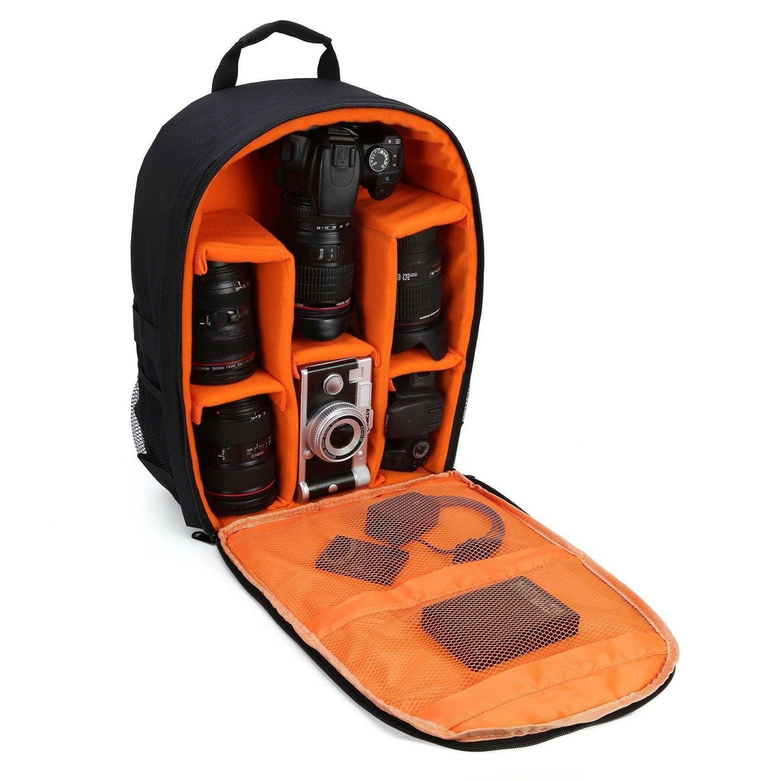 "G-raphy Camera Backpack Waterproof 16"" X 13"" X 5"" with Rain"