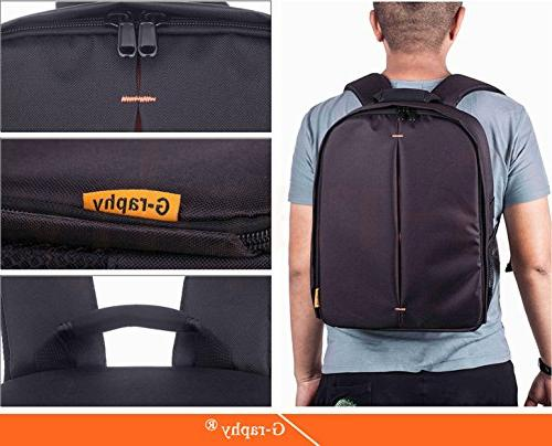 G-raphy Camera Bag for DSLR , Lens, Tripod and