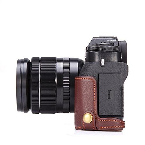 X-T2 BolinUS Handmade Genuine Half Camera Cover for X-T2 Fuji XT2 Bottom Opening Version Hand