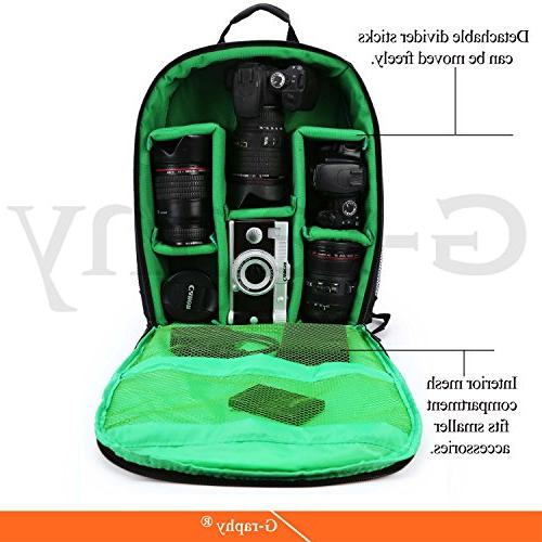 G-raphy Camera Backpack Rain for DSLR Lens, Tripod and