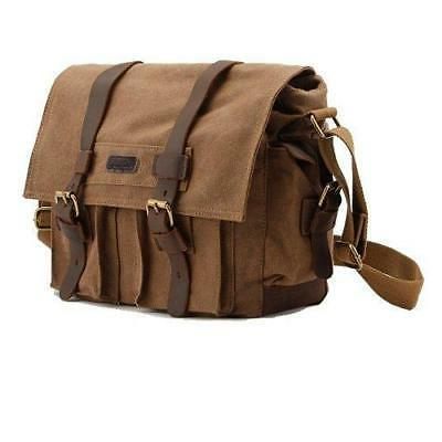kattee leather canvas camera bag vintage dslr